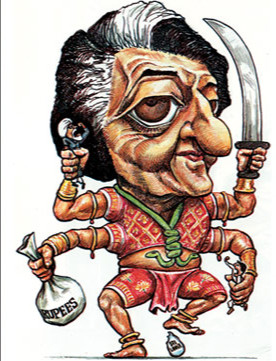 Image result for indira gandhi cartoons