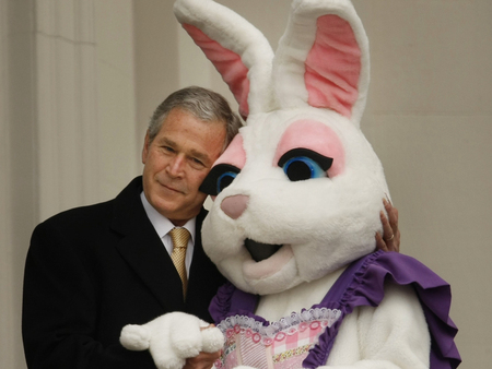 loves Dick Cheney in Bunny suit