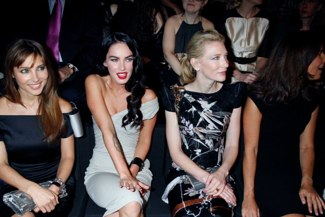 One of these is not like the Others: Megan Fox has camera-induced orgasm; Cate Blanchett politely looks elsewhere.